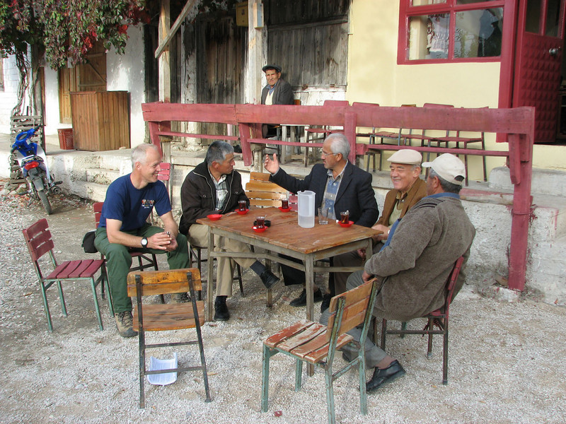 drinking Tea in a village (Tahtali Dag, SW Turkey)