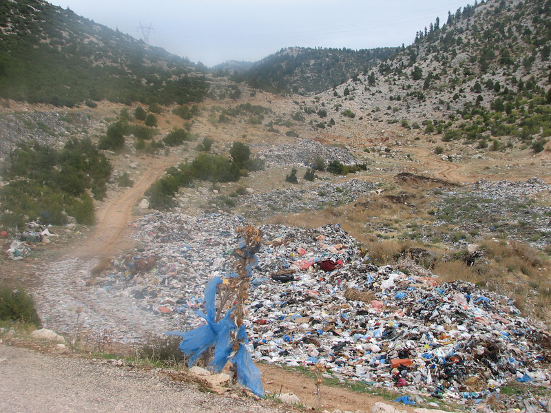 Protect the nature? left litter, a mess in Turkey (Akseki, Southwestern Turkey)