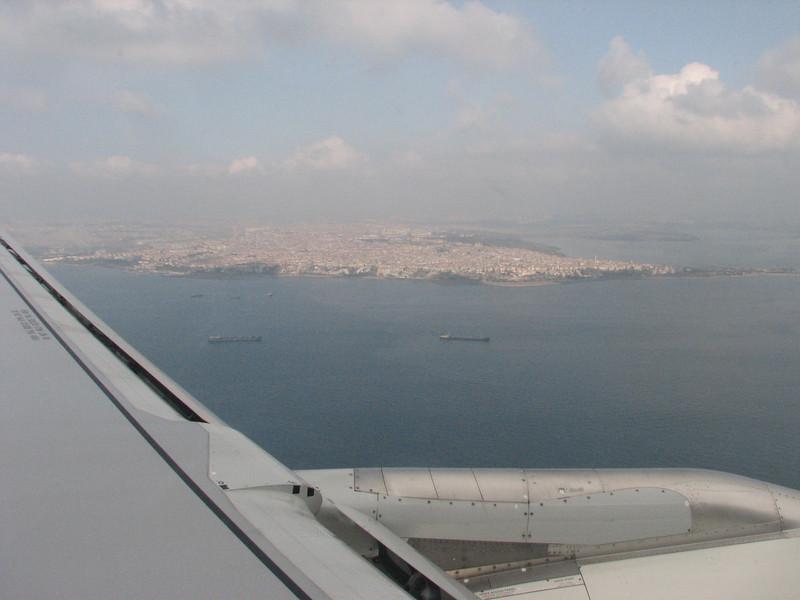 Aerial view at Istanbul, flight Dalaman-Istanbul-Dusseldorf, Southwest Turkey- Germany