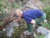 Marijn catching a crab (between Fethiye and Gölhisar, SW Turkey)