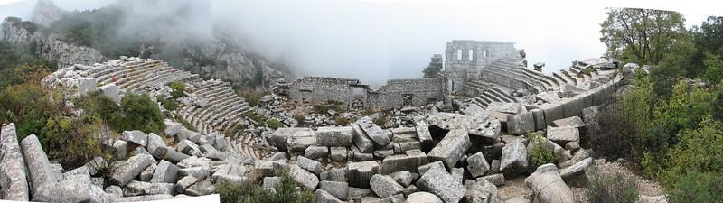 panorama view Colosseum, Termessos, SW Turkey
