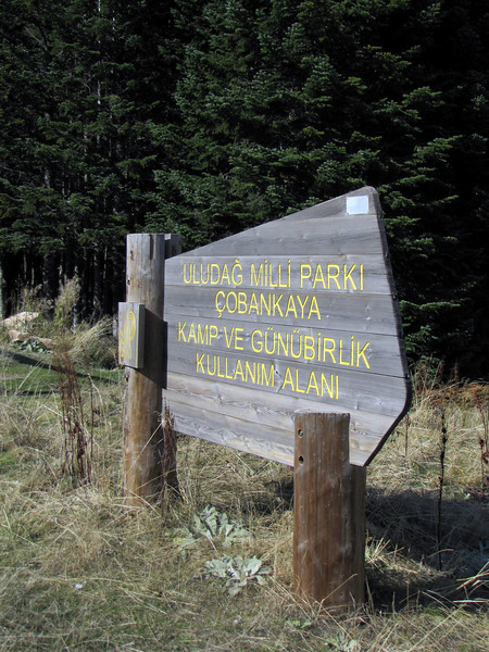 National Park sign of Uludag National Park