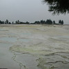 Travertines, hot springs and basins at Hierapolis (Pamukkale)