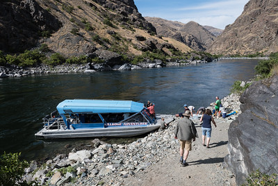 On the way downstream in Hells Canyon the jet-boat made a few stops.