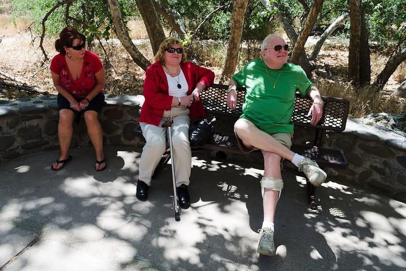Taking a bench break at Montezuma's Castle.