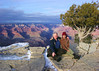 Mali and me on the Grand Canyon's south rim.