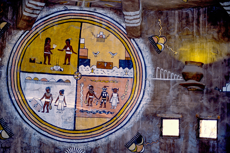A mural in the Grand Canyon Tower museum.