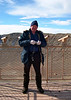Standing on one of the observation decks at Meteor Crater.  Ever since I was a child I wanted to visit this crater.  The crater did not disappoint.