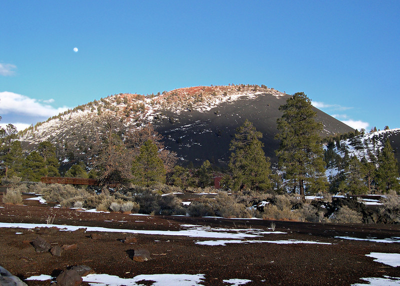 Sunset crater.  We quickly drove by the next time I will have to spend sometime in this area.