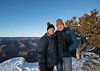 """Me and Helen on the South Rim of the Grand Canyon. This was her first canyon visit.  We are standing in <a href=""""https://conceptcontrol.smugmug.com/Trips/USA-and-Canada/Arizona-Toodling-1/i-CpLmksD/A"""">the same spot that I posed with Mali (click here)</a> back in 2004. This time the snow was deeper and the light more diffuse."""