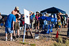 Hundreds showed up on Wahweap Overlook for the eclipse. The amateur astronomers that were sharing their scopes were busy.