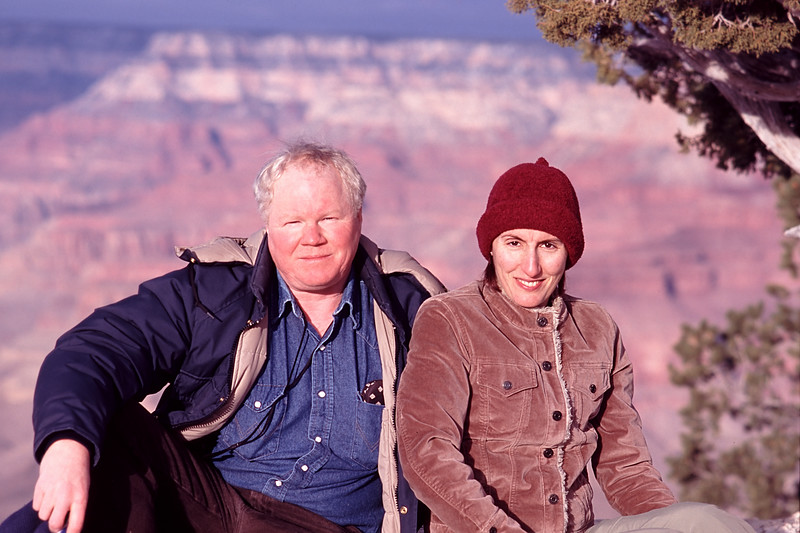 Me and Mali on our first trip to the Grand Canyon.