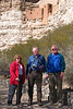 Me and my parents under Montezuma's castle.