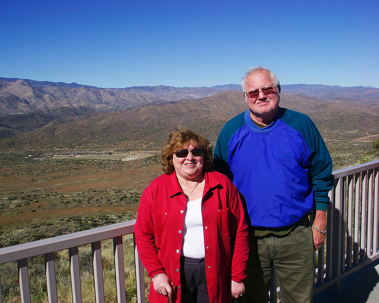 Mom and Dad at sunset point Arizona