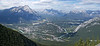 Looking over Banff Alberta from Sulphur mountain.