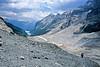 Glacial moraine above Lake Louise Jasper.