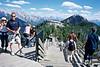 Walkways on top of Sulphur mountain Banff Alberta.