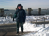 Here I am on the Battery park waterfront enjoying the weather.