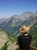 Overlooking the Going to the Sun road in Glacier National Park.