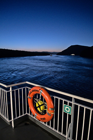 Gathering darkness on the ferry from Vancouver Island.