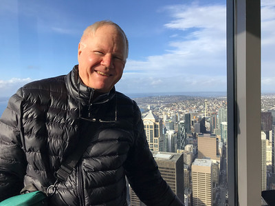 Me in the Columbia Center Tower in Seattle. One of the fastest ways to absorb a cityscape is to see it from above.