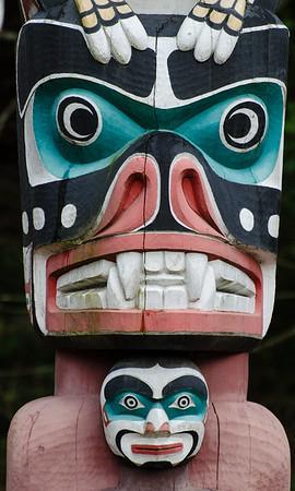 Stanley Park Totem Pole detail.