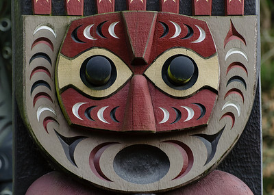 Astonished totem face.