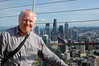 Me on the observation deck of the Space Needle in Seattle.  I've been on the deck before but failed to secure the been there done that photo.