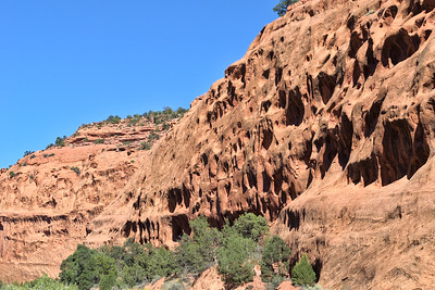 Burr Trail red acne cliffs.