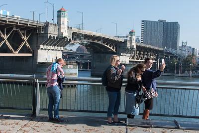 Portland waterfront selfie.