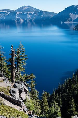 Crater Lake deep blue.
