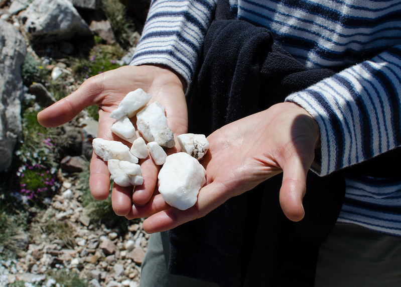 There is a lot of very white quartz in Great Basin