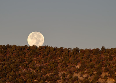 A moonset from the balcony of our B&B. It's hard to resist a setting moon.