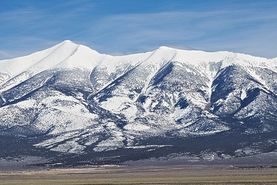Mount Wheeler in Great Basin National Park the highest point along highway 93. We climbed this mountain on July 4th 2017 and there was still snow on its summit. It  looks like this winter has dumped a fair load for next summer.