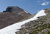 You don't find a lot of snow in Nevada in July. Most of the state is hot and dry but snow patches persist about 3400 meters.