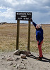 As high as we have driven our little car this year. Two weeks ago I rode the Big Sky Lone Peak mountain cable car just slightly higher than this roadside sign.
