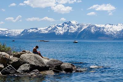 Looking west toward the California side of Lake Tahoe.
