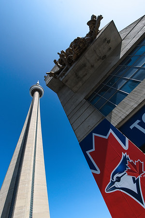 I look for atypical viewpoints when photographing over photographed subjects like the CN Tower.