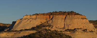Early morning sunlight falling on the cliffs near our Boulder Utah B&B.