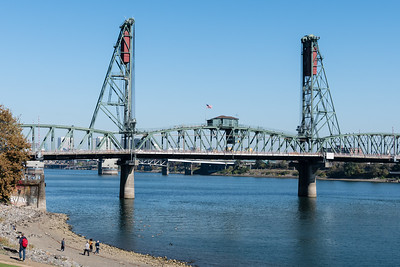One of the many bridges spanning the Willamette River in Portland.