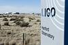 LIGO sign and buildings.