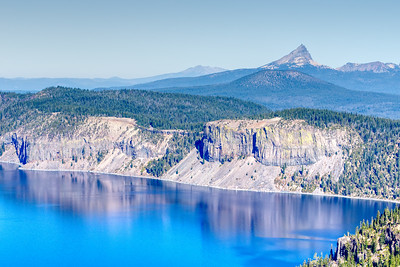 Looking north over Crater Lake.
