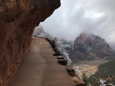 Heading up Angels Landing trail in Zion.