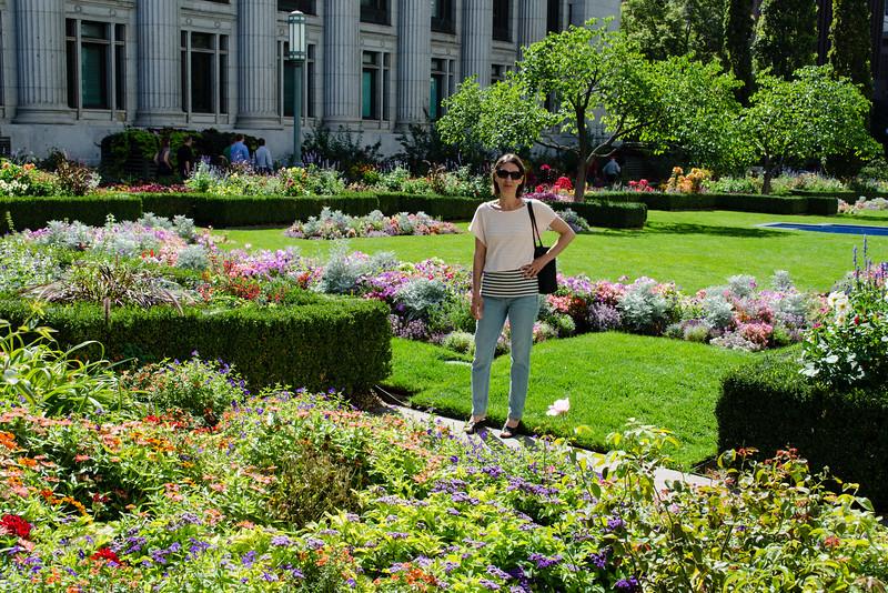 Mali in the Temple Square Gardens in Salt Lake City.