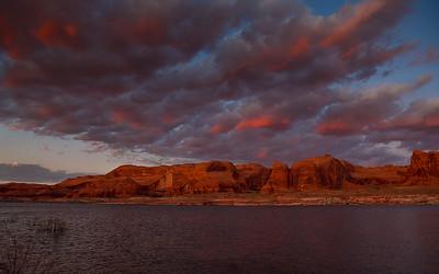 Twilight on Lake Powell, Arizona