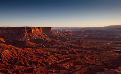 Sunset over Canyonlands - from Green River Overlook.