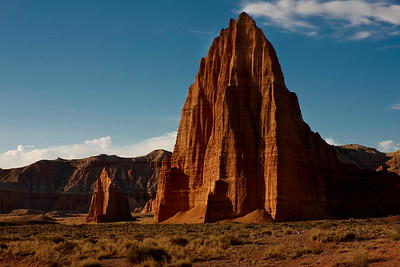 Temple of the Sun and Temple of the Moon (background) - Capital Reef National Park