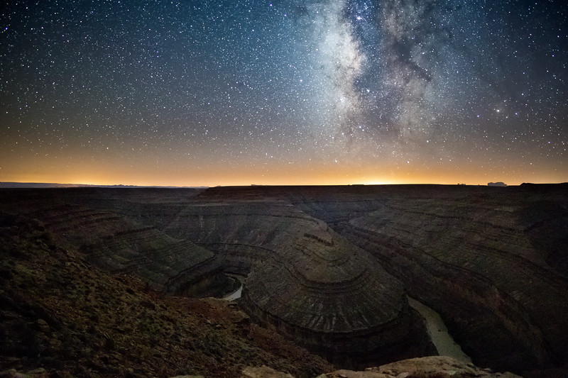 Milky Way at Goosenecks State Park