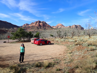 Looking for our first wild camp on the outskirts of Zion NP, Utah.
