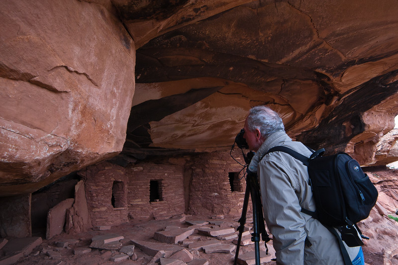 Doug at Fallen Roof Cliff Dwelling
